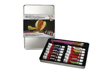 ARTISTS OIL PAINTING ART SET IN TIN BY ROYAL & LANGNICKEL